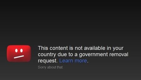 YouTube govt censorship